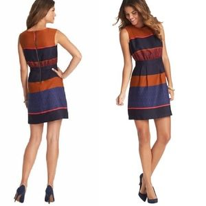 Loft Ann Taylor Mosaic Striped Sleeveless Dress